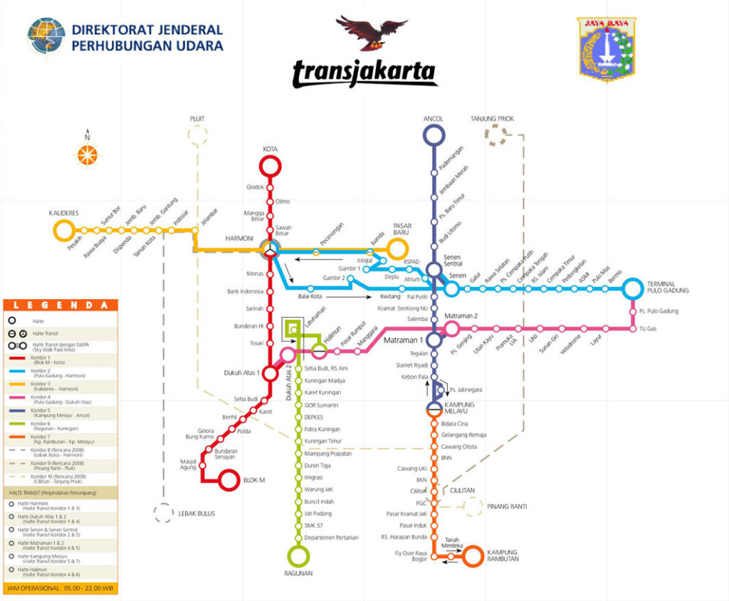 Busway Schematic Map