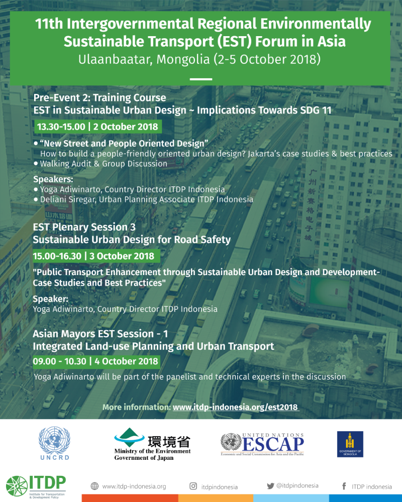 ITDP on The 11th Intergovernmental Regional Environmentally Sustainable Transport (EST) Forum