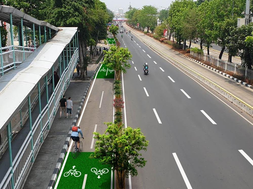 Belajar Berbagi Jalan dengan Jalur Sepeda